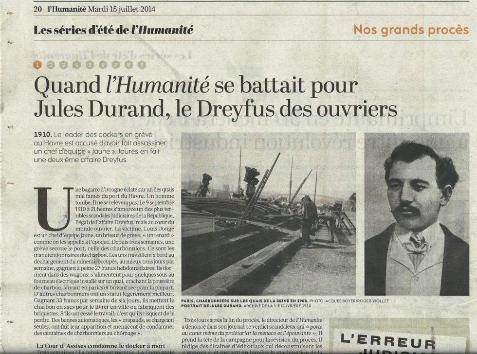 Jules Durand et l'Humanité