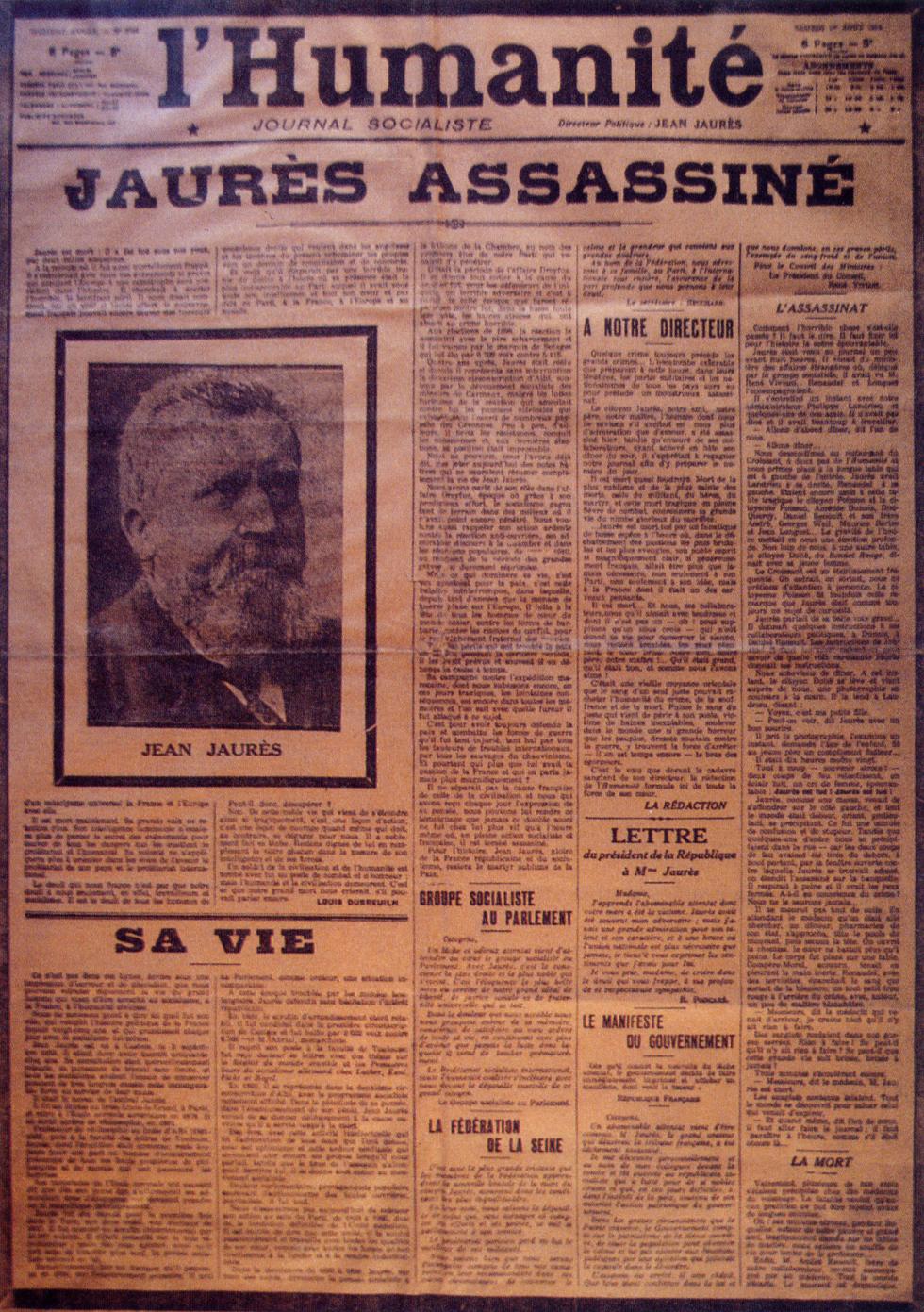 Il y a cent ans, ils assassinaient JAURES- les commémorations en Seine-Maritime