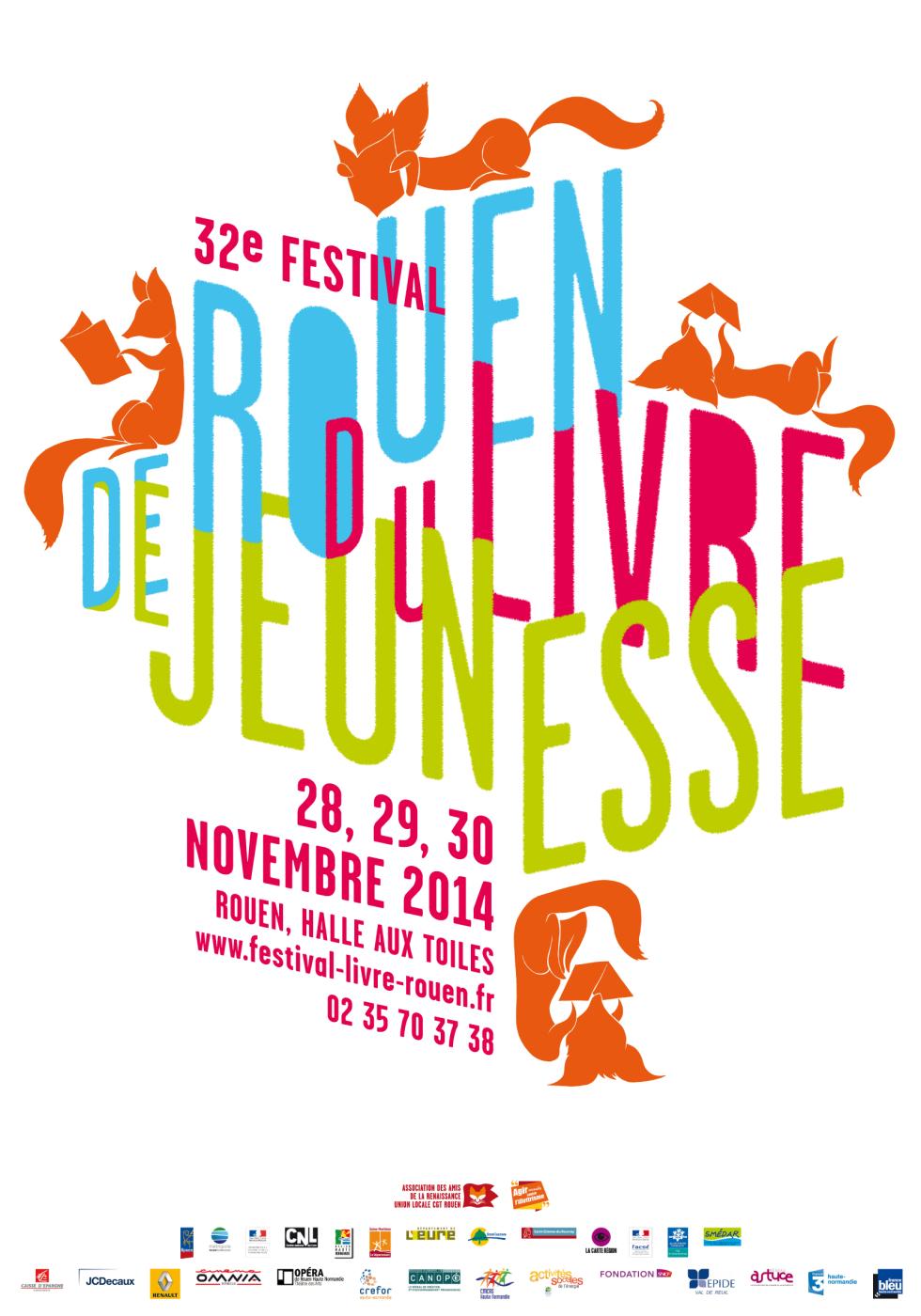 28, 29 & 30 Novembre 32 ème festival du livre de jeunesse à Rouen
