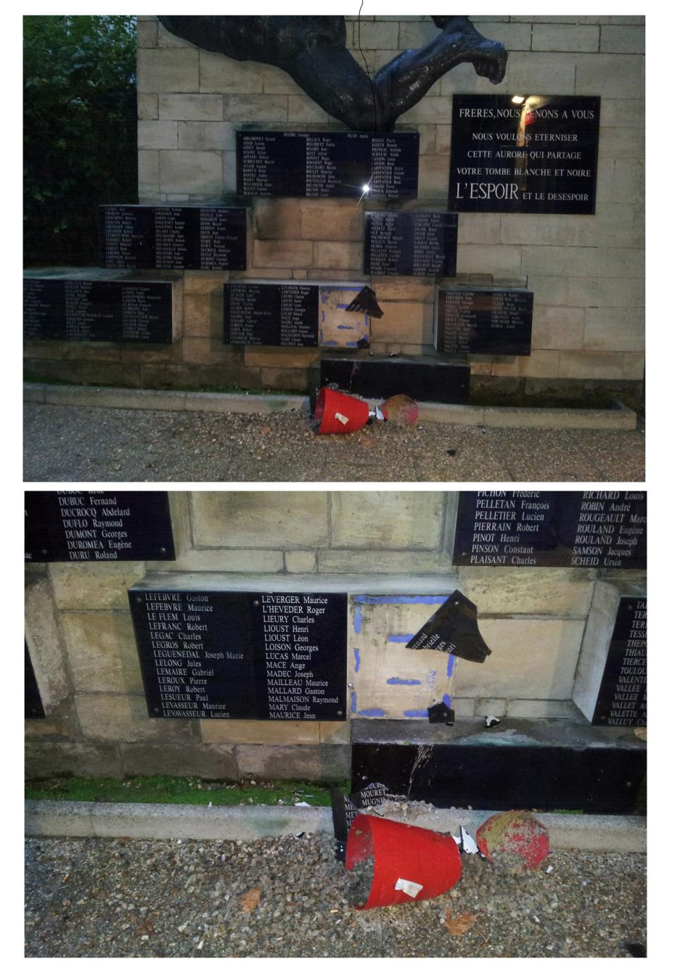 A Rouen, le monument aux communistes déportés et fusillés dégradé!