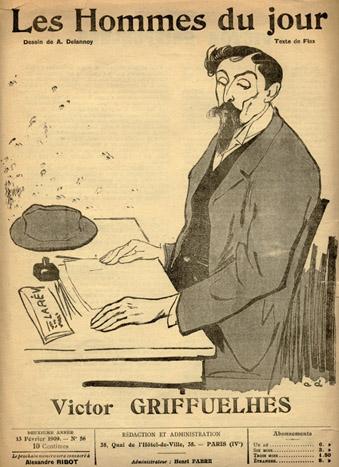 La démission de Victor Griffuelhes- Secrétaire de la CGT 1901-1909.
