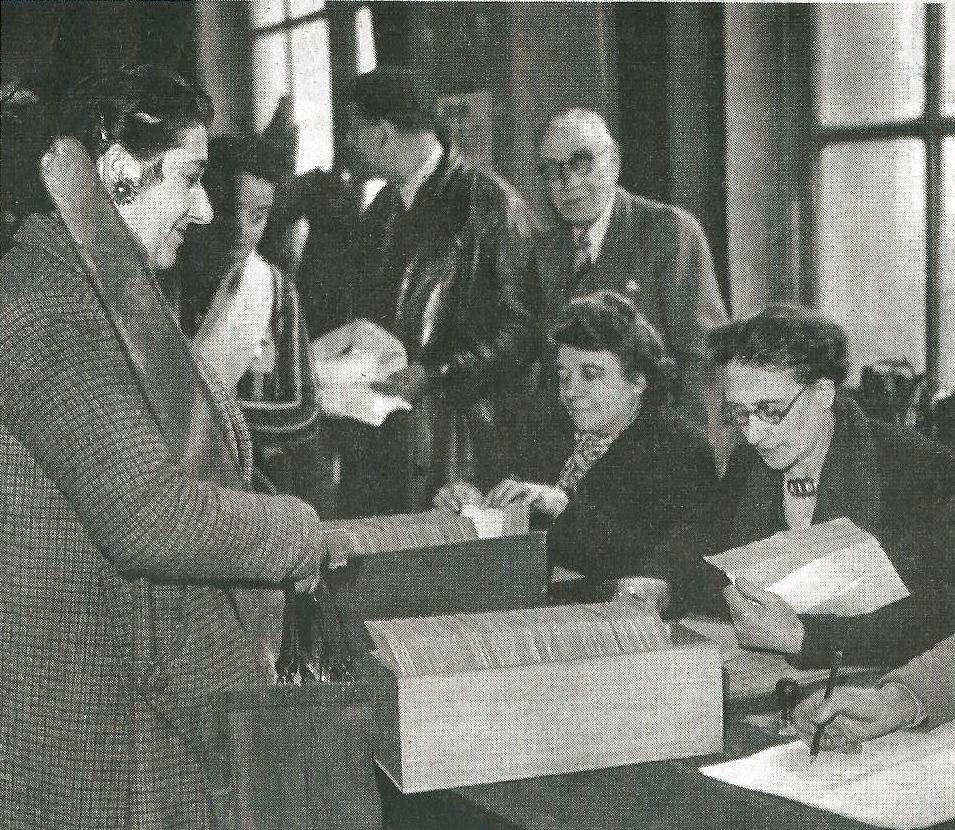 il y a 70 ans….Le 1er vote des femmes.