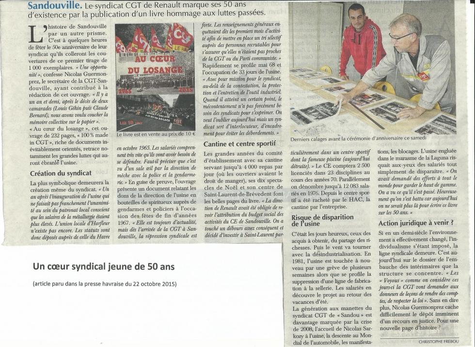 les 50 ans du syndicat CGT de Renault Sandouville