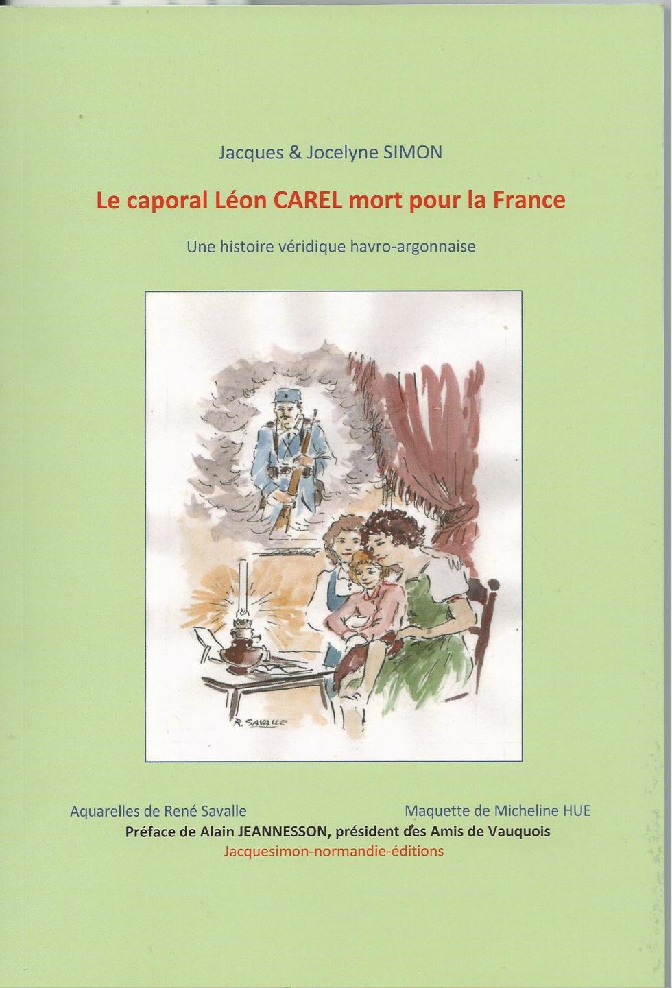 Le Caporal Léon CAREL mort pour La France