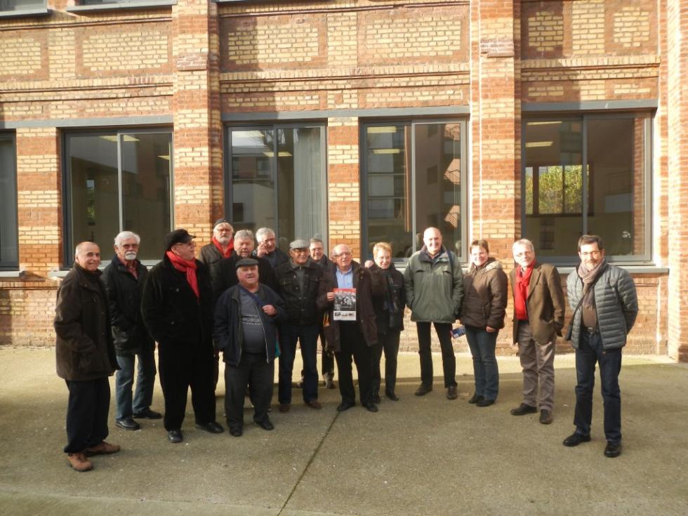 Présentation à la presse normande du «Fil rouge » consacré à Caillard au Havre