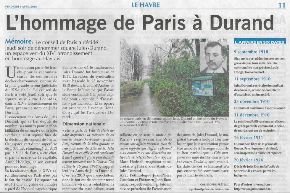 UN SQUARE JULES DURAND A PARIS