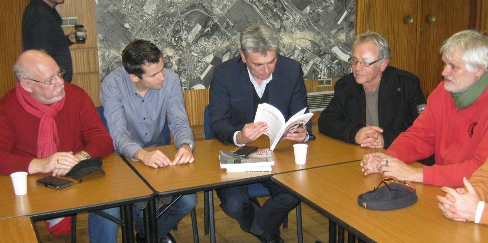Le Maire de Dieppe : Sébastien Jumel, reçoit en Mairie l' IHS Cgt 76
