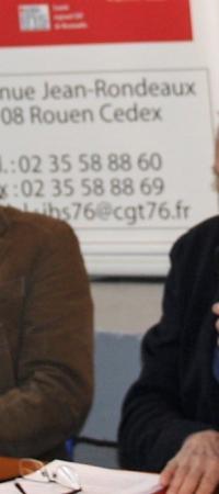 Bernard THIBAULT à Rouen à l'initiative de l' IHS cgt 76