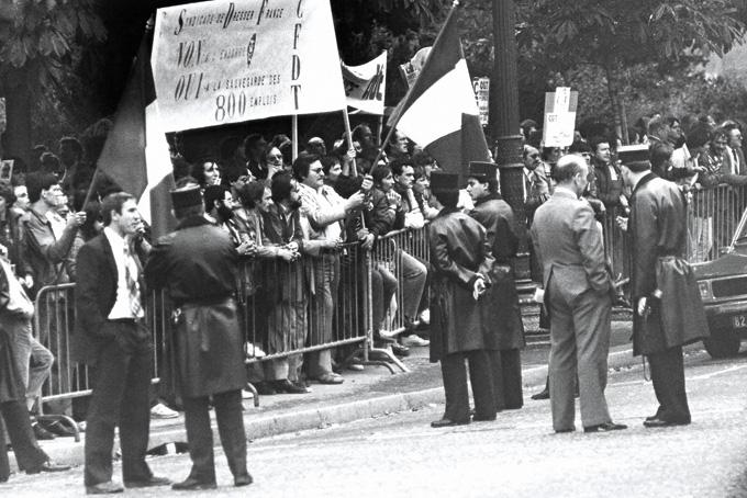 23 septembre 1982, manifestation devant l'ambassade des USA à Paris